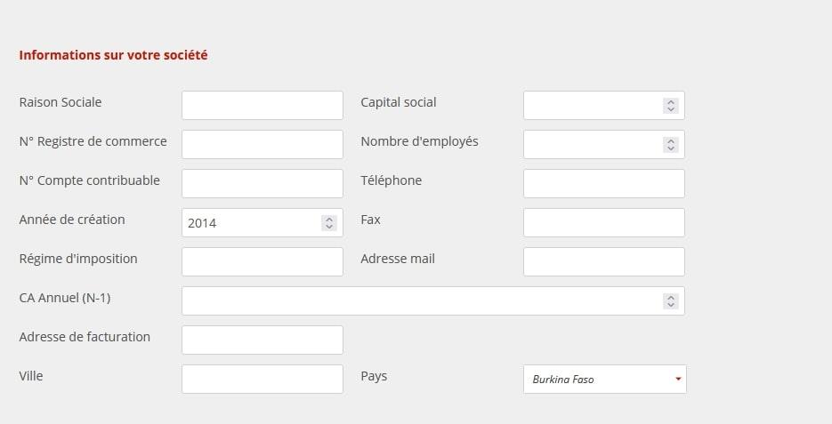 Formulaire sur le site d'Aitek Delivering Technology