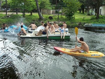 Kayak et pédalo seme beach