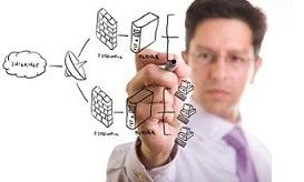 la représentation d'une architecture réseau Réseautix services