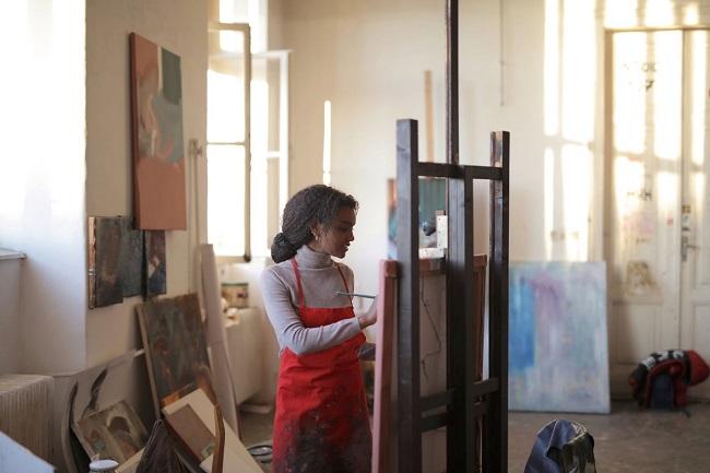 Peinture carré des artistes