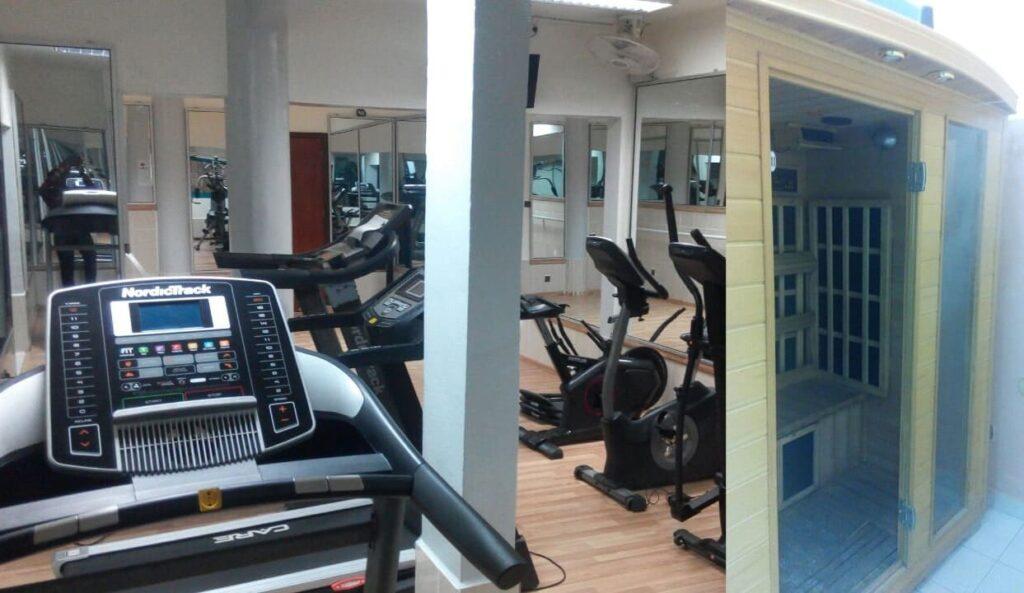 Salle de sport de l'hôtel Prince de Galles